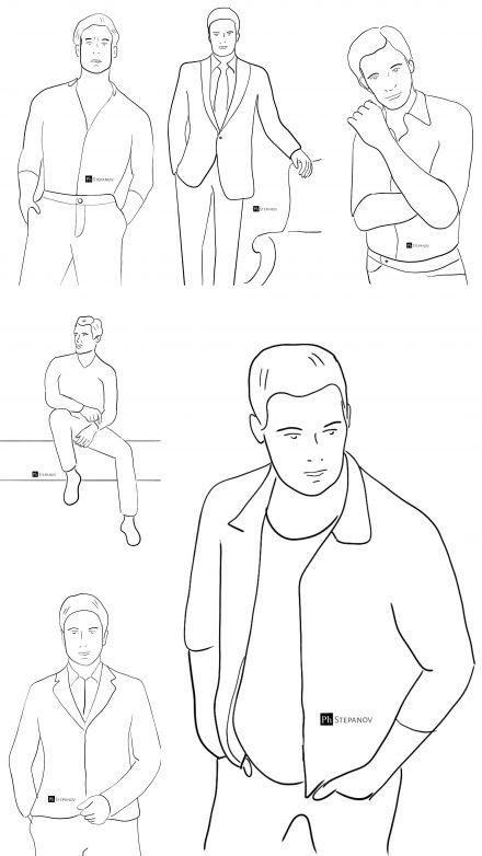 , 10 мужских позировок для фотосессии